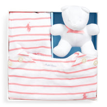 Load image into Gallery viewer, Pink & White Striped Dress Gift Set
