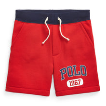Load image into Gallery viewer, Red Polo Logo Sweat Shorts