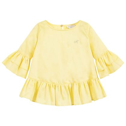 Monnalisa Sale Yellow Ruffle Blouse