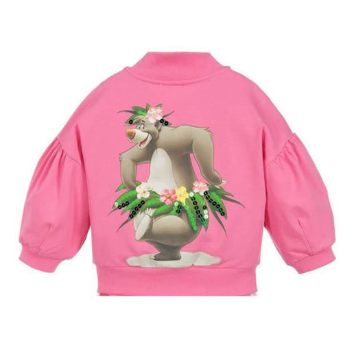 Monnalisa Sale Pink 'Baloo' Gem Zip Up
