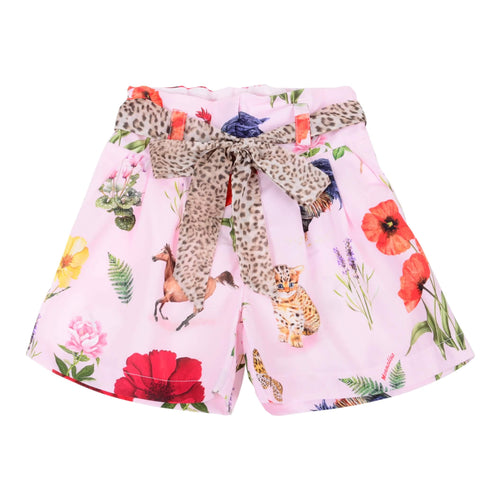 Monnalisa Sale Pink Animal Print Shorts