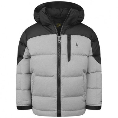 Black & Grey Down Puffer Jacket