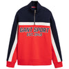 Red Half Zip Sports Sweat Top