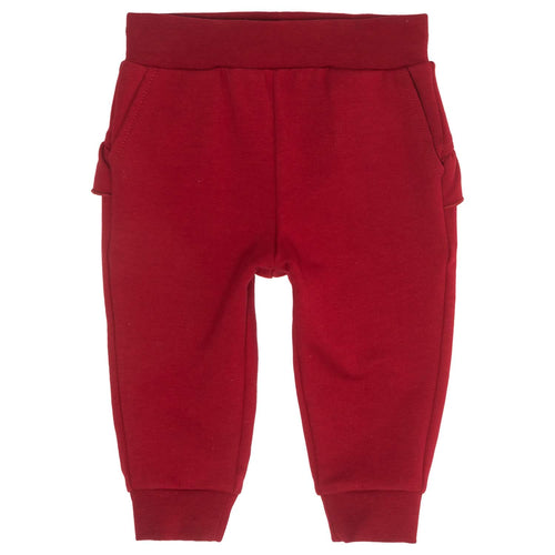 Monnalisa Sale Red Sweat Pants