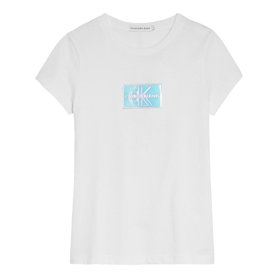 White Holographic Patch T-Shirt
