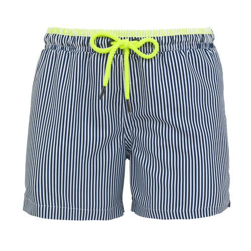 Navy Baby Boys Stripe Swim-shorts