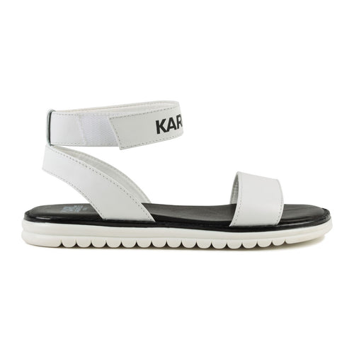 Black & White Karl Sandals