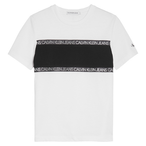 White Colour Block T-Shirt
