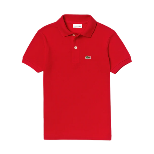 Red Pique Polo Shirt