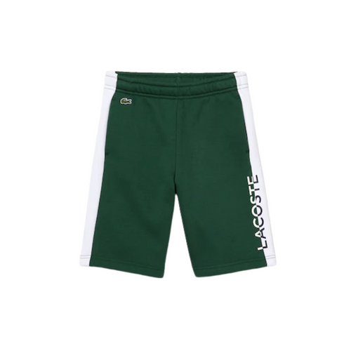 Green & White Logo Sweat Shorts