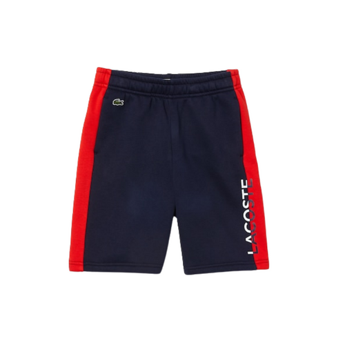 Navy & Red Logo Sweat Shorts