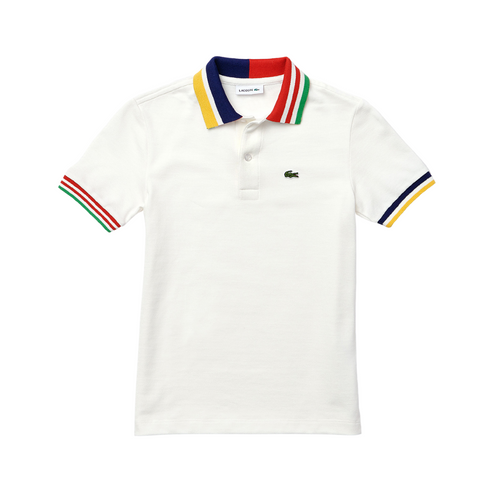 Ivory Striped Polo Shirt
