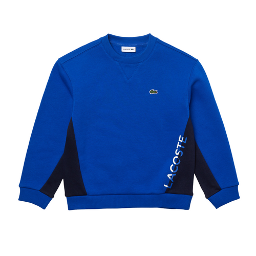 Blue Colourblock Sweat Top