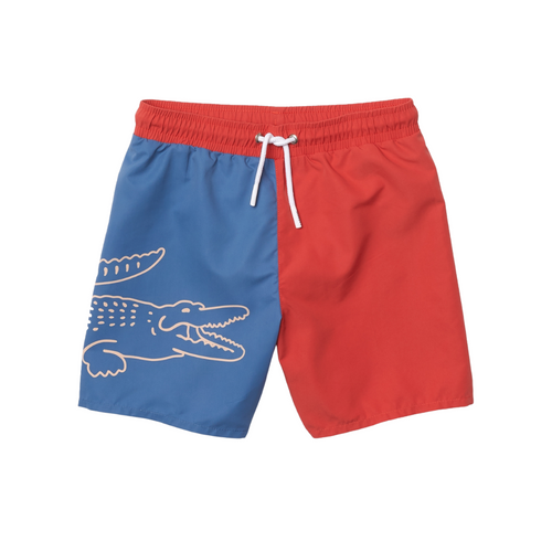Red & Blue Crocodile Swimwear