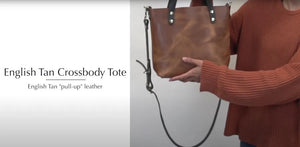 Tan Leather Crossbody Tote | Kerry Noël