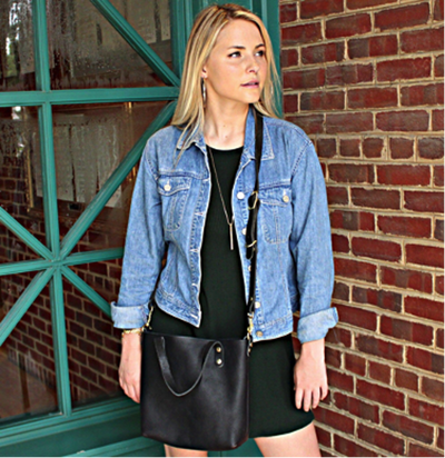 What to Wear With a Leather Crossbody Tote