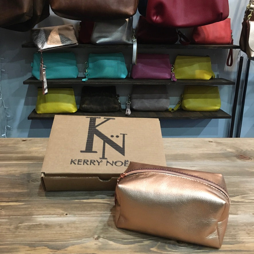 Luxury Leather Zippered Cosmetic Bags are the perfect Mother's Day Gift for anyone who needs some extra organization.