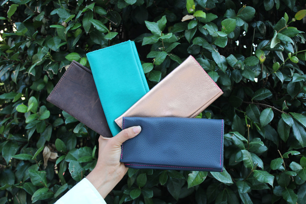 Kerry Noël leather wallets handmade in Texas! Our leather long wallets are perfect for making your outfits pop!