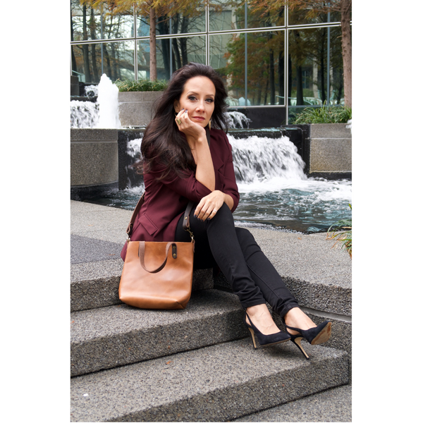 All of our custom made leather handbags are customizable, so we suggest ordering the tote that fits your personal lifestyle.