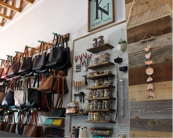 At Kerry Noël we handcraft and customize designer leather totes from genuine American leather. We rebel against the idea of designer leather handbags made in Chinese sweatshops.