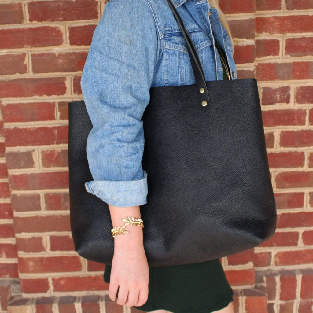 Large Black Leather Luxury Women's Purse by Kerry Noël is perfect for Mother's Day!