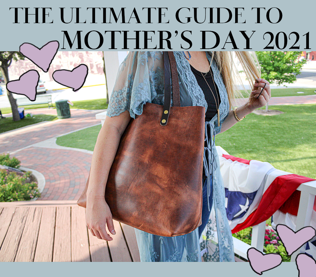 The Perfect Gift for your Mom on Mothers Day is a hand crafted leather bag or accessory from Kerry Noël!
