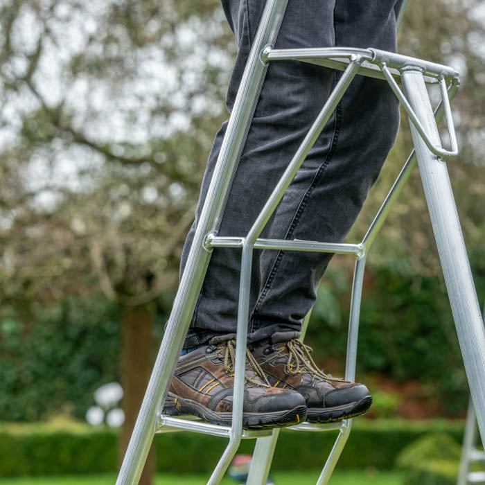 Platform Tripod Ladder - 3 Leg Adjustable 12ft / 3.6m