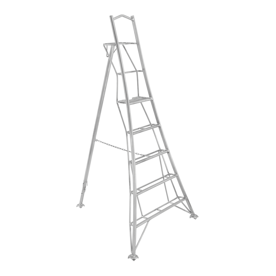 Platform Tripod Ladder - 1 Adjustable Leg 8ft / 2.4m