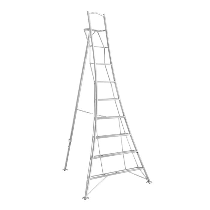Platform Tripod Ladder - 1 Adjustable Leg 10ft / 3m