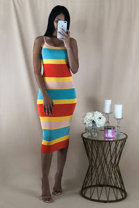 Summer stripes midi