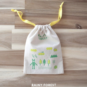Rainy Forest Cotton String Pouch