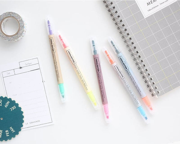 2Color Highlighter Twin Pen Set