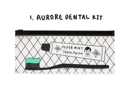 Oohlala Aurore Dental Kit Clear Long Pouch