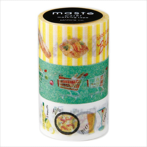 Maste 20 mm Bar Bakery Supermarket Set Washi Tape