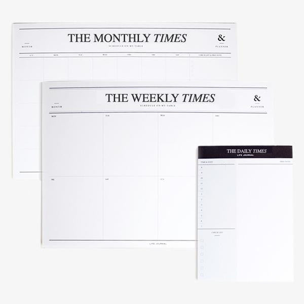 The Monthly Times Notepad