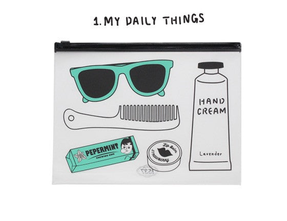 Oohlala My Daily Things Clear Pouch