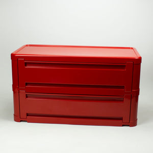 Plastic shoe cabinet, Olaf Von Bohr for Kartell, Model 4963.