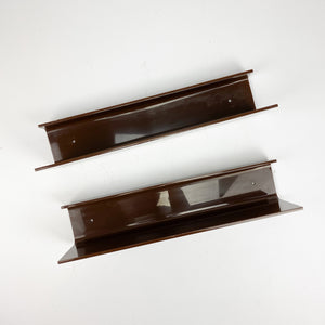 Vintage Brown Plastic Shelf 1970's