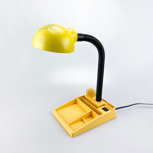 Desk lamp with pencil holder, 1980s