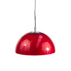 Hard Plastic hemisphere Red Lamp. 1970s