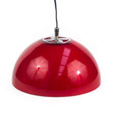 Load image into Gallery viewer, Hard Plastic hemisphere Red Lamp. 1970s
