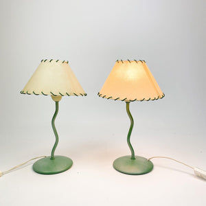 Pair of table lamps, 1980's