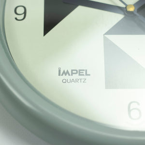 Impel Wall Clock, Japan Design, 1980's Memphis Style.