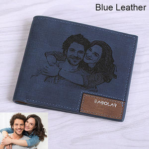 Men's Custom Photo Engraved Wallet | Unique Gifts For Men