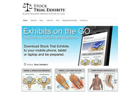 Purchase medical exhibits and download instantly