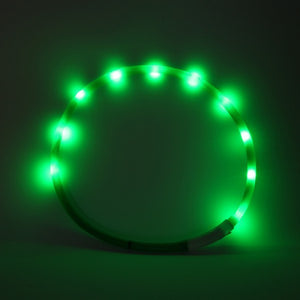 LED Dog Collar with USB Recharging