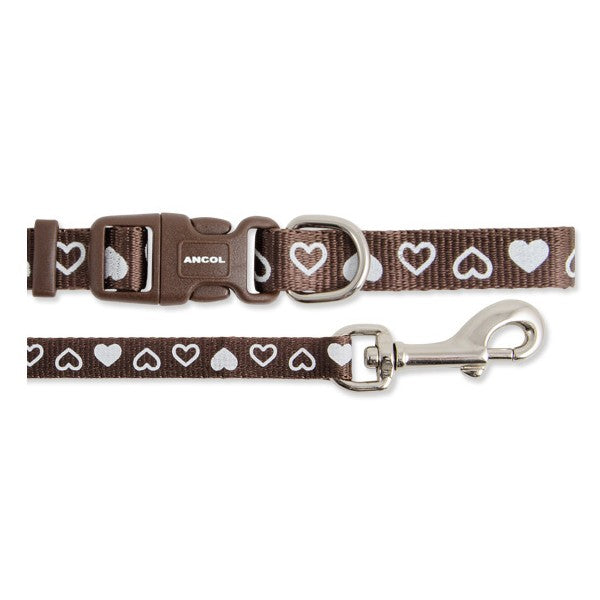 Small Bite Hearts Nylon Collar & Lead Set