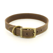 Load image into Gallery viewer, Timberwolf Leather Dog Collar