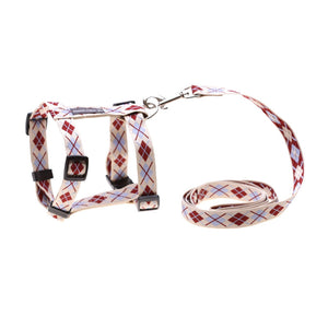 Hamish McBeth Argyle Cream Harness and Lead Set