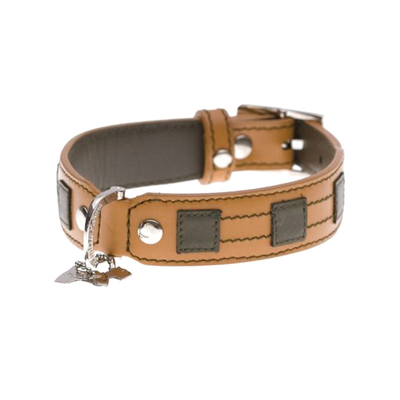 Hamish McBeth Leather Dog Collar Bentley Tan